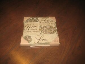 plaque faith hope love   (new) Windsor Region Ontario image 1