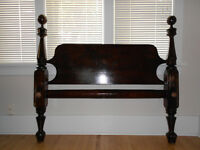 Antique Solid Wood Bed Frame (3/4 size)