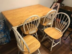 Table and chair set. 4x3