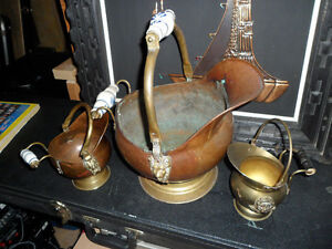Vintage Copper and brass ,  3 pieces $100