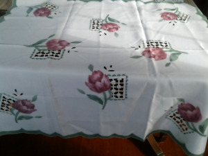 "Brand New 36"" Square Tablecloth"