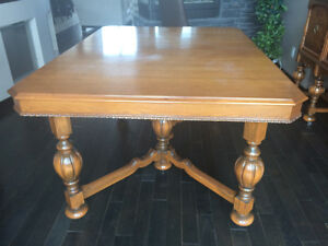 Antique 4 piece dining room set
