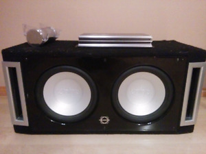 12 infinity subs with 1000 watt amp and capacitor