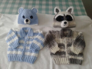 Crochet baby sweaters sets 3 to 6 months