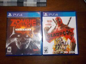 Deux jeux Playstation 4 à échanger ou à vendre.