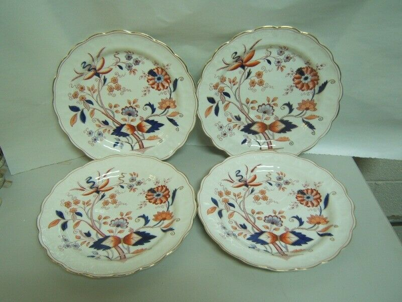 """Booths """"Fresian"""" Dinner Plates Lot of 4 Very Good Condition"""