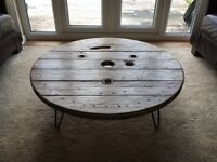 Distressed Industrial Coffee and Side Table Set