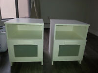 Two White bedside lockers