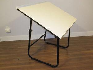 Drafting Art Desk Table - Adjustable Incline