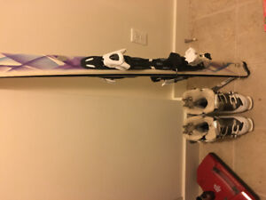Size 8 Women's Solomon Boots and Atomic skiis
