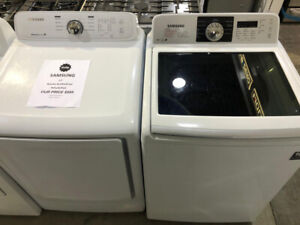 27 Samsung Clear Top Washer & Dryer Set $899 as tor