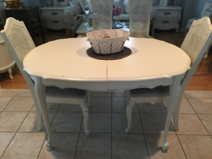 French Country Shabby Solid Wood Dining Table