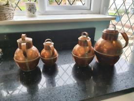 Vintage Collectable Copper Pots x 4