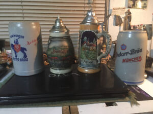 Old Beer Steins for sale.  1960-80's
