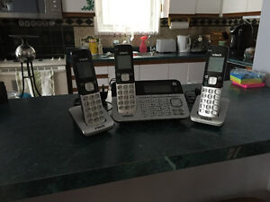 3 VTech Phones with Base