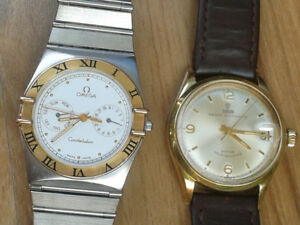 Omega Constellation 18k gold and Tudor Rolex automatic...2000$