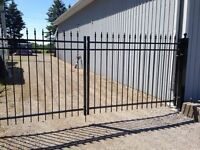 Brand New Custom Made Welded Aluminum Double Gates