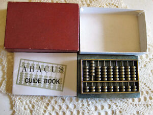 Vintage Chinese Brass Abacus Marble Base F/S