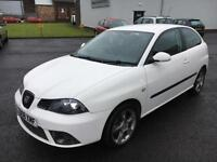0808 Seat Ibiza 1.4 16V 100 Sportrider White 3 Door 66008mls MOT