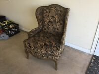 Barrymore Wingback Chair And Ottoman