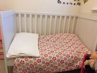 REDUCED - IKEA cot bed & mattress