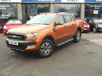 16 FORD RANGER 4X4 DOUBLE CAB 3.2 WILDTRAK PICK UP LEATHER SATNAV PLUS VAT