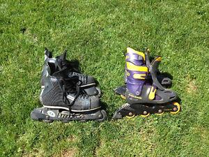 Size 11 & 8 roller blades