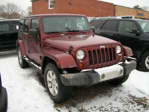 2009 JEEP WRANGLER SAHARA UNLIMITED CERTIFIED $14999 + TAX + LIC