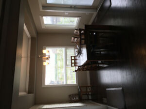 Large 4 year old Solid wood Extendable Kitchen Table