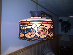 Chrysler Collectible Hanging Tiffany Lamp + Old World 4-Globe