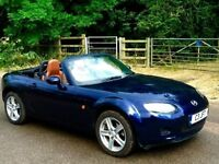 Mazda mx5 brown leather seats metallic blue new clutch just fitted