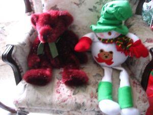 CHRISTMAS santa,snowman,christmas teddy bear