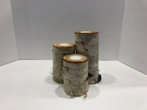 Handcrafted Birch Tealight Pillar