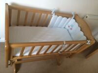 Mothercare crib & mattress inc mattress cover & bumper