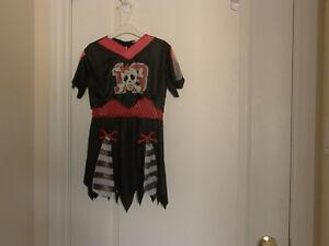 2pc Pirate Girl Halloween Costume Size 6-8