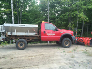 2002 Ford F-250 Pickup Truck with plow and sander