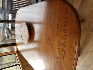 Solid Wood Table + 8 Chairs