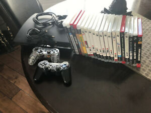 PS3 - 2 controllers,HDMI cord,18 games