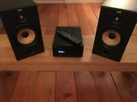 Denon CD receiver RCD M38DAB with B&W speakers