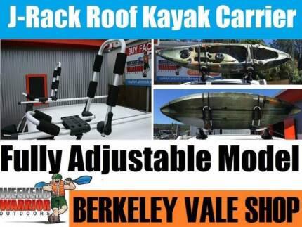 Kayak J Rack Carrier Roof Cradle Canoe Watercraft Adjustable