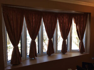 Bay window curtains West Island Greater Montréal image 1