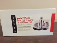 Torre & Tagus axis 7 piece martini shaker & glass set