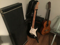 Electric Guitar + Acoustic guitar + many Accessories