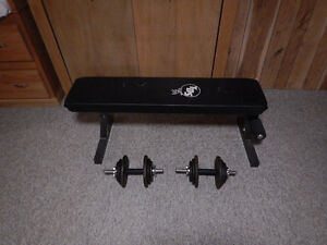 Weight bench and free weights