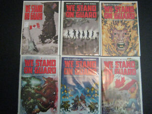 We Stand On Guard Image Complete Series #1-6 CAN VS U.S.