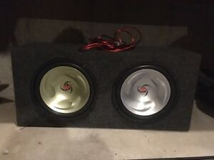 "12"" Kenwood Subs and 1000 watt Amp with Box"