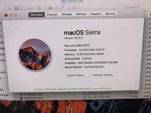 Mac mini 2.5ghz i5