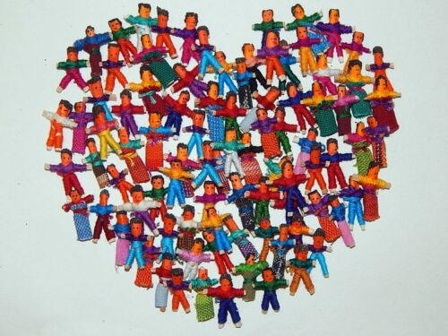 100 Tiny Guatemalan Worry Dolls. 50 Boys and 50 Girls