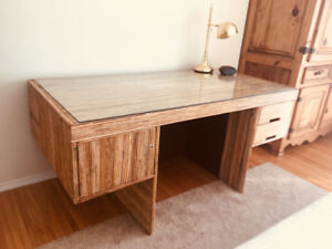 Feature Bamboo Office Desk - $180