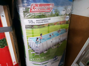 "Coleman 18'x9'x48"" rectangular frame pool"